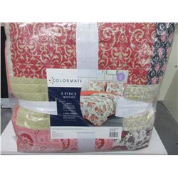 New KING size 3 piece Quilt set