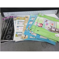 New Large Bundle of Iron on's and printer fabric sheets