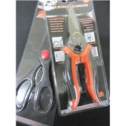 2 New Pairs of Scissors / Industrial stainless and Magic Shears cut almost