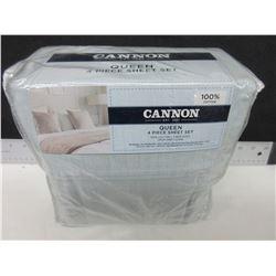 New QUEEN 4 piece Sheet Set / 100% cotton