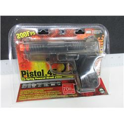 New Air Soft .45 Caliber Pistol / 200fps spring powered large Mag 70bb's