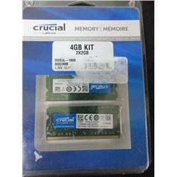 Crucial Memory Kit 4gb 2 x 2 DDR3 1600 SODIMM