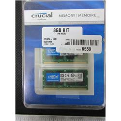 Crucial Memory Kit 8gb 2 x 4 DDR3 1600 SODIMM