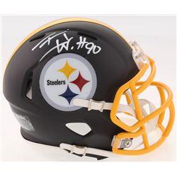 1eae74976 T.J. Watt Signed Steelers Custom Matte Black Speed Mini Helmet (JSA COA Watt  Hologram)