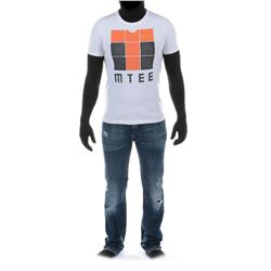 """Sam Witwicky"" graphic t-shirt and jeans ensemble from from Transformers: Dark of the Moon."