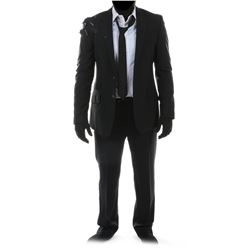 """Sam Witwicky"" distressed black suit ensemble from Transformers: Dark of the Moon."