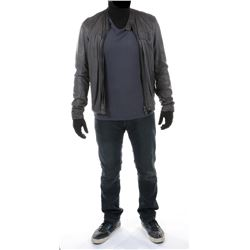 """Sam Witwicky"" gray leather jacket ensemble from Transformers: Dark of the Moon."