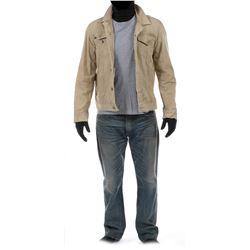 """Cade Yeager"" tan denim jacket and jeans ensemble from Transformers: Age of Extinction."