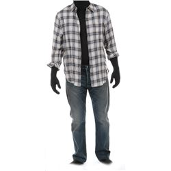 """""""Cade Yeager"""" checked shirt and jeans ensemble from Transformers: Age of Extinction."""