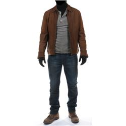 """""""Cade Yeager"""" brown leather jacket ensemble from Transformers: Age of Extinction."""