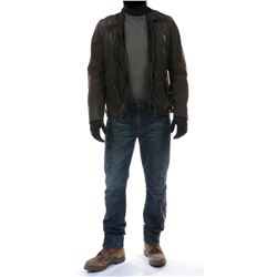 """""""Cade Yeager"""" dark leather jacket ensemble from Transformers: Age of Extinction."""