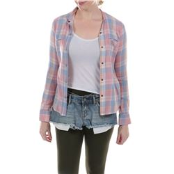 """""""Tessa Yeager"""" plaid shirt and cutoff shorts ensemble from Transformers: Age of Extinction."""