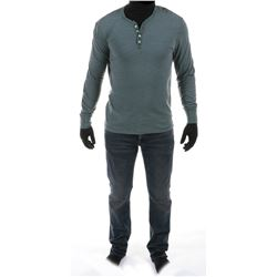 """""""Shane Dyson"""" Henley and jeans ensemble from Transformers: Age of Extinction."""