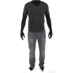 """""""Shane Dyson"""" gray t-shirt and jeans ensemble from Transformers: Age of Extinction."""