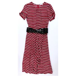 """""""High Society Lady #1"""" striped dress designer fashion ensemble from Transformers: The Last Knight."""
