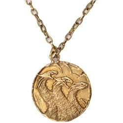 """""""Vivian Wembley"""" Dragonstorm 3-headed dragon pendant necklace from Transformers: The Last Knight."""