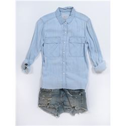 """Izabella 'Izzy'"" denim shirt and shorts ensemble from Transformers: The Last Knight."