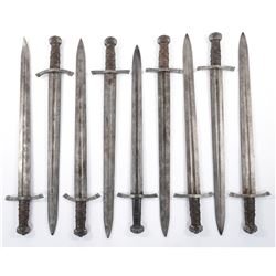 Briton silver pommel swords (9) from Transformers: the Last Knight.