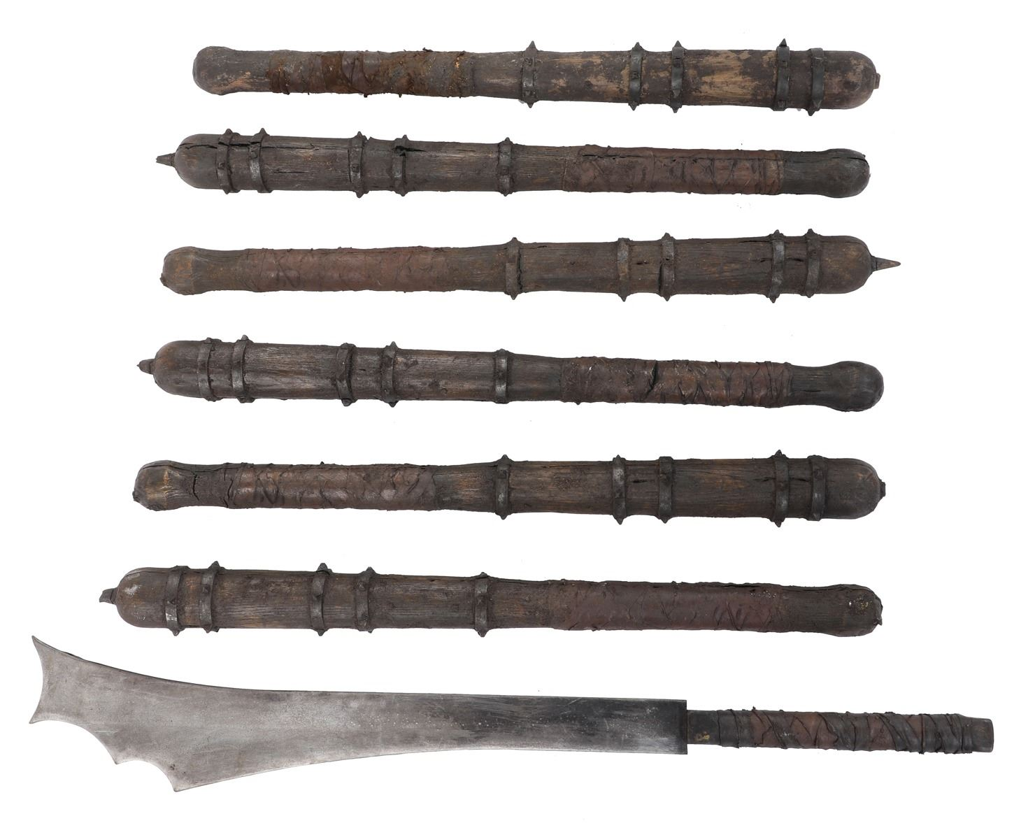 Saxon clubs (6) and cleaver sword (1) from Transformers: the Last Knight