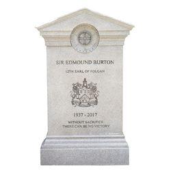 """Sir Edmund Burton"" headstone prop from Transformers: the Last Knight."