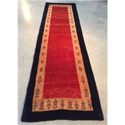 "2'.6"" X 8'.8"" Magnificent Authentic Persian Gabbeh Runner"