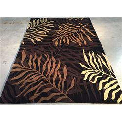 6'X9' Magnificent Modern Hand Knotted Carved Wool Pile Rug
