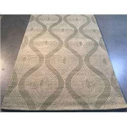 5'X8' Designer Modern Wool Pile Rug