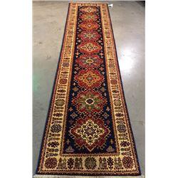 Super Kazak handmade 2.6X9 Wool Pile on Cotton Foundation Runner