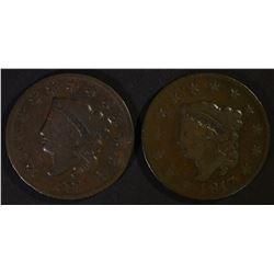 1817 & 1831 LARGE CENTS FINE