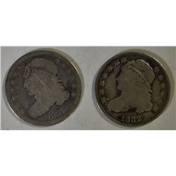 1837 AG & 1832 FINE CAPPED BUST DIMES