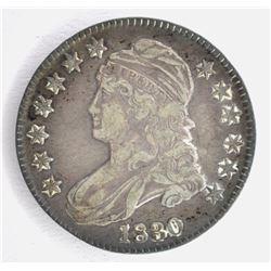 1830 BUST HALF DOLLAR, VF/XF