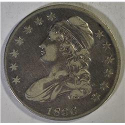 1836 BUST HALF DOLLAR, XF