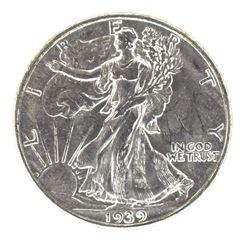 1939-S WALKING LIBERTY HALF DOLLAR, CH BU