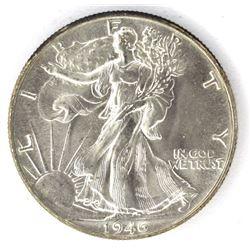 1946 WALKING LIBERTY HALF DOLLAR  GEM BU+