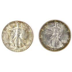 1946-S & 1947 WALKING LIBERTY HALF DOLLARS
