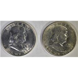 1948-D BU & 1949-S AU/BU FRANKLIN HALF DOLLARS