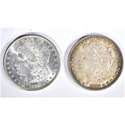1880-S & 84 CH BU MORGAN DOLLARS