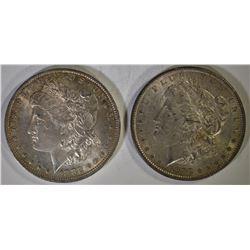 1882-O & 83 CH BU MORGAN DOLLARS