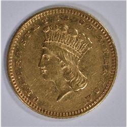 1872 $1.00 GOLD, AU/BU