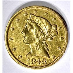 1848-C $5 GOLD LIBERTY