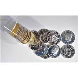 ROLL OF MIXED DATE 40% SILVER PROOF KENENDY HALVES