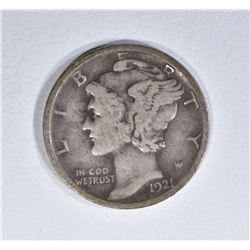 1921-D MERCURY DIME  CHOICE FINE