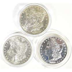 3 MORGAN DOLLARS