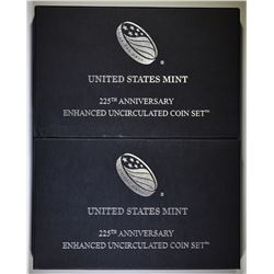 2-2017 U.S. MINT 225th ANNIV ENHANCED UNC SETS