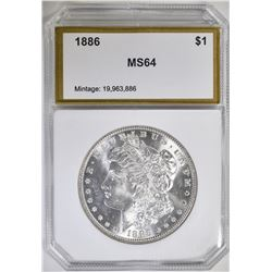 1886 MORGAN DOLLAR, PCI CH/GEM BU BLAST WHITE!