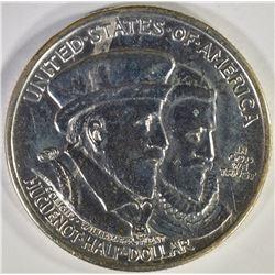1924 HUGUENOT COMME HALF DOLLAR, CH BU