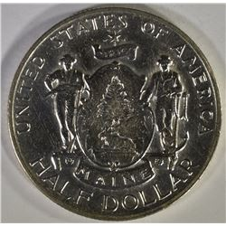 1920 MAINE COMMEM  HALF DOLLAR, AU/BU