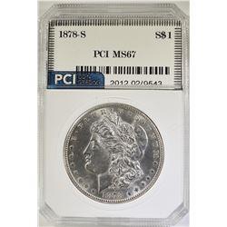 1878-S MORGAN DOLLAR, PCI SUPERB GEM BU++