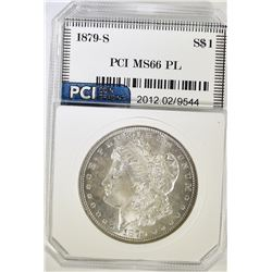 1879-S MORGAN DOLLAR, PCI SUPERB GEM BU PL