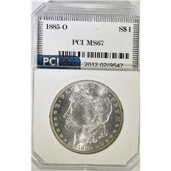 1885-O MOIRGAN DOLLAR, PCI SUPER GEM BU+